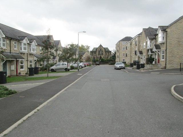 Hastings Way - looking towards Free School Lane