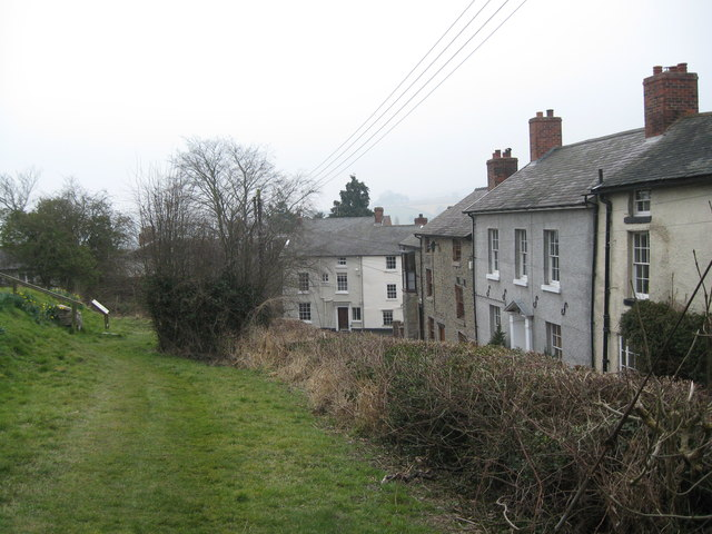 Two views of Castle Street, Bishops Castle 1-Shropshire