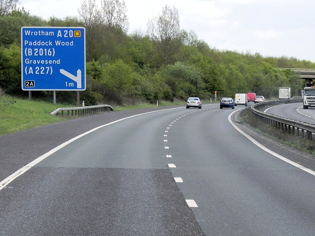 M26 Approaching Junction 2A
