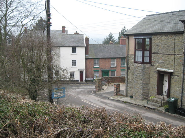 Two views of Castle Street, Bishops Castle 2-Shropshire