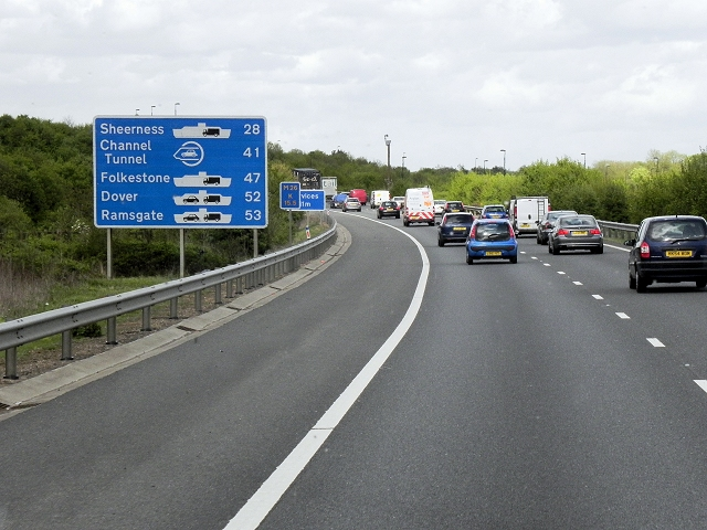 Eastbound M26, The Road to the Channel Ports