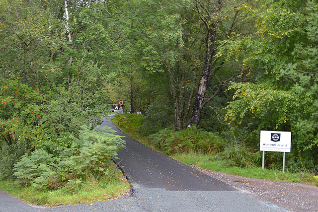 Track to Loch Lochy salmon farm