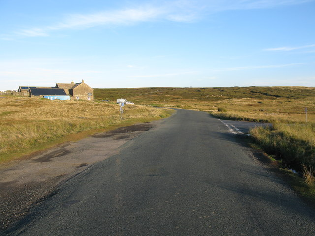 Road Junction at the Tan Hill Inn
