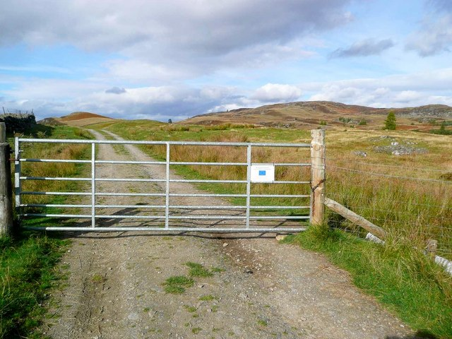 Gate on the Loch Ordie track
