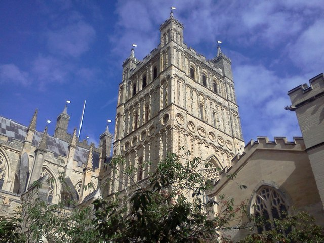 The south tower of Exeter Cathedral