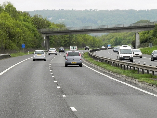 Westbound M26, Childsbridge Lane Bridge