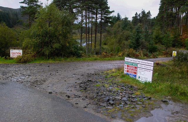 Start of forestry road near Upper Sandaig