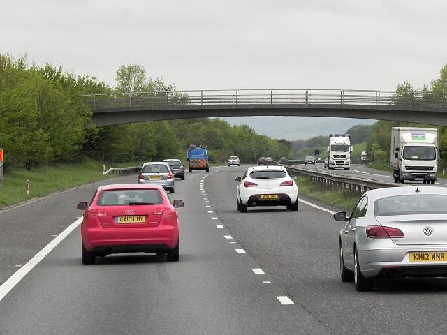 Footbridge over the M26 near Heaverham