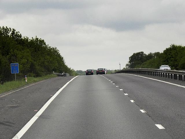 Westbound M26 North of Sevenoaks