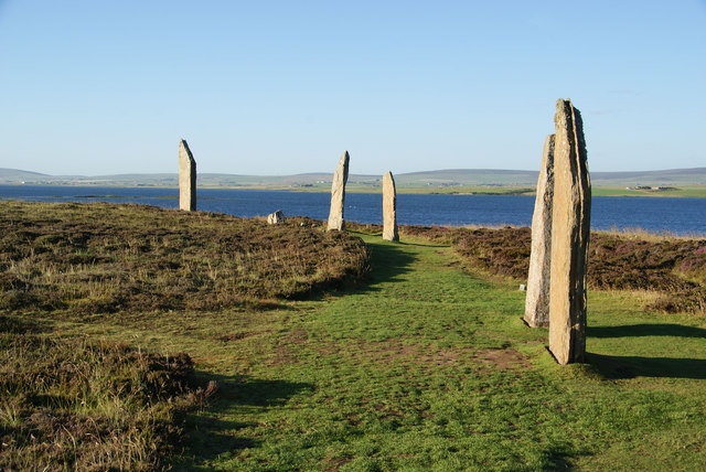 The Ring of Brodgar in evening light