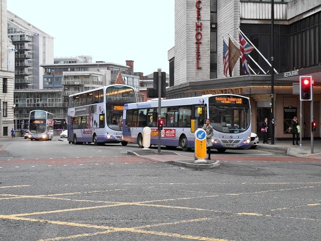 Buses on Blackfriars Street