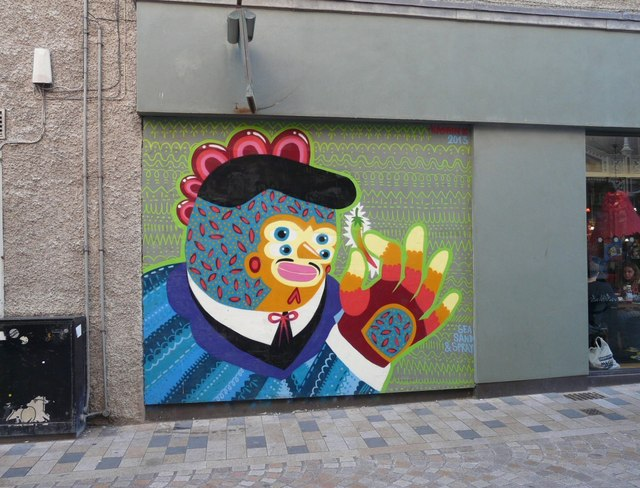 Mural next to Nandos