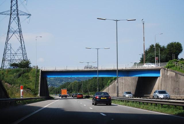 M4, Junction 44 overbridge