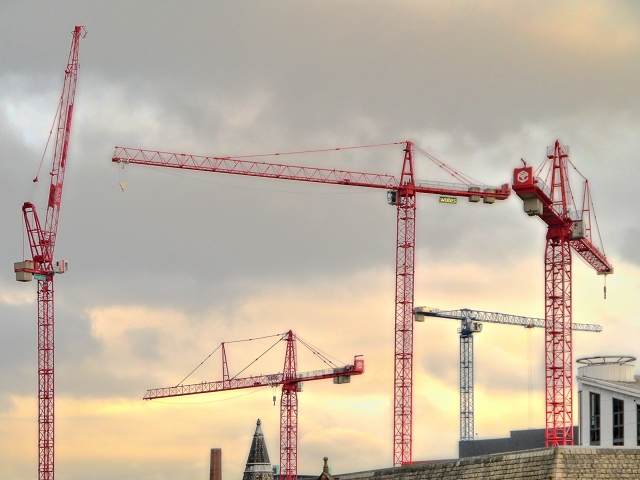 Cranes Over the Manchester Skyline