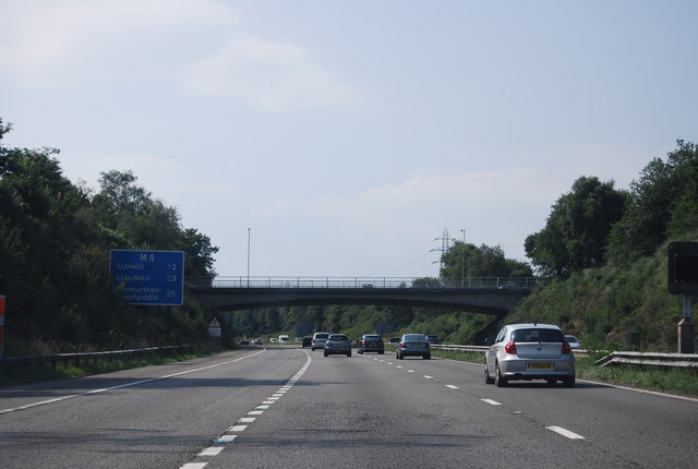 Bridge over the M4