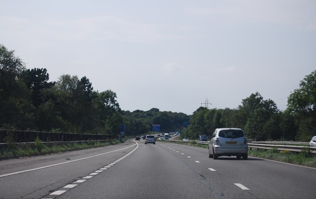 M4, west of Junction 46