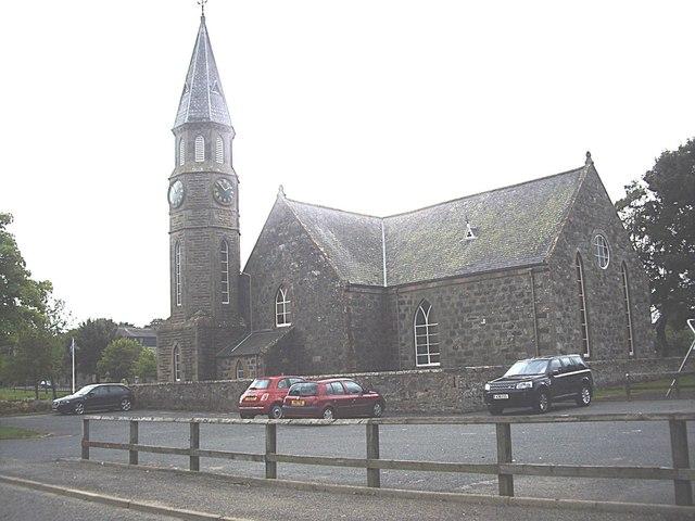 Rhynie Parish Church and carpark