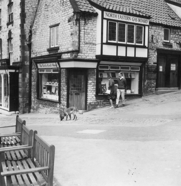 The Little Craft Shop, North Eastern Gas Board etc. at 44 Burgate, Pickering, Yorkshire