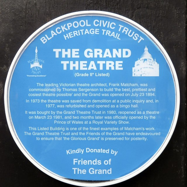 Grand Theatre Blue Plaque