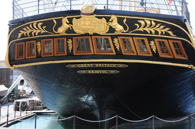 The stern of the SS Great Britain