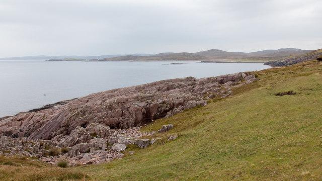 View east along the coastline