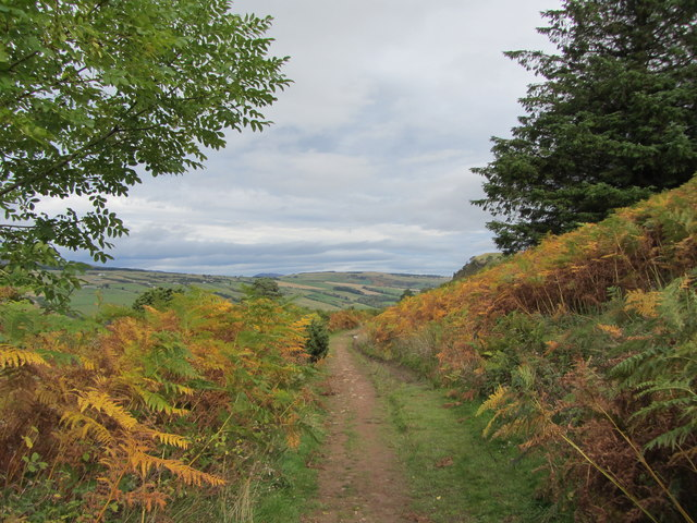 The path on the north side of Knock Farrel