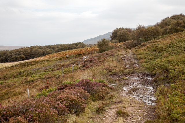 Track at the base of Maol Breac