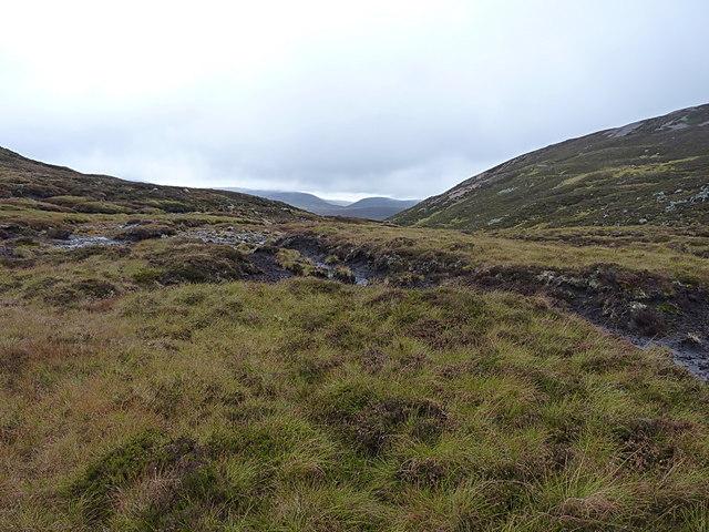 The upper area of the Allt a' Choire Creagach