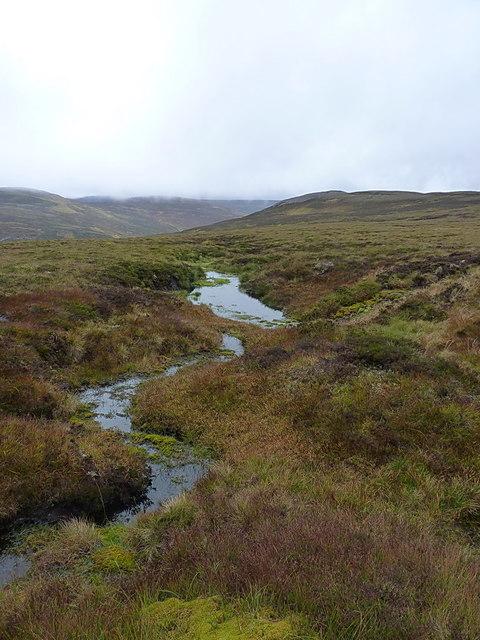 Wet ground below Cnap a' Choire Chreagaich