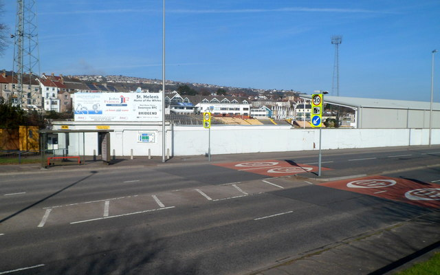 SW corner of  St Helen's Rugby and Cricket Ground, Swansea