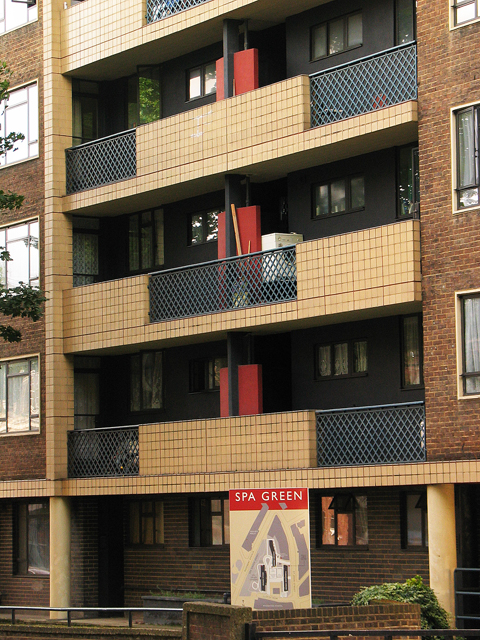 Balconies, Tunbridge House, Spa Green Estate