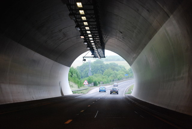 Exiting the Southwick Tunnel, A27