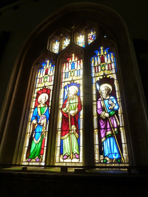 St Andrew, Trent: stained glass window (b)