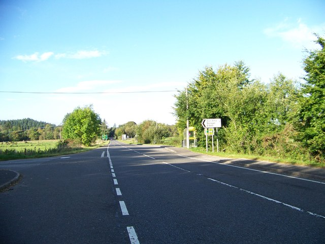 A828 at the junction with the B845 at Barcaldine