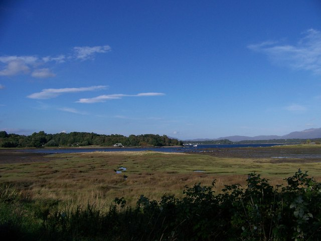 The view across the bay from near Dalrannoch Farm