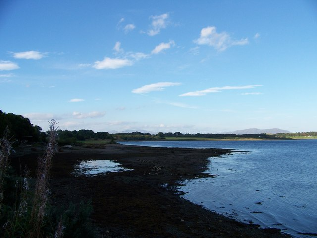 The view across the bay from the road to the Rhugh Garbh depot