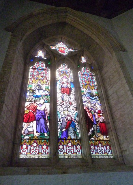 St Andrew, Trent: stained glass window (g)