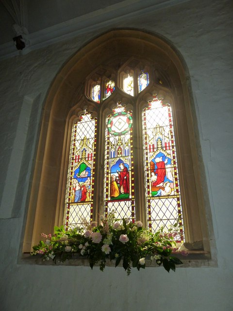 St Andrew, Trent: stained glass window (i)