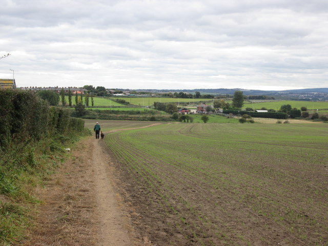 Footpath towards Three Nooks and Upper Cudworth