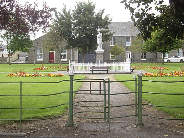 Gated access to Rhynie War Memorial
