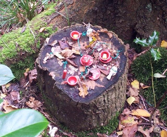 Fairy picnic with sad fairies
