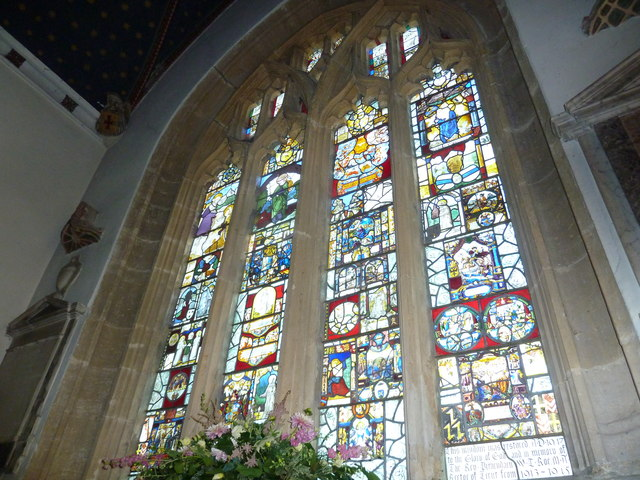 St Andrew, Trent: stained glass window (j)