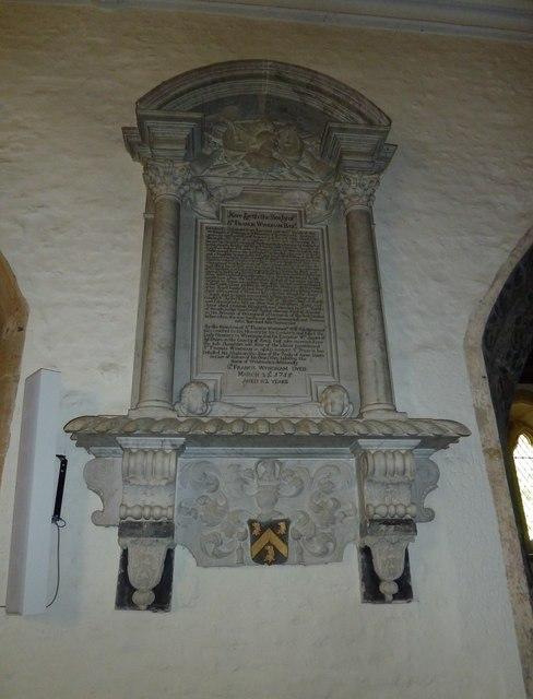 St Andrew, Trent: memorial (2)