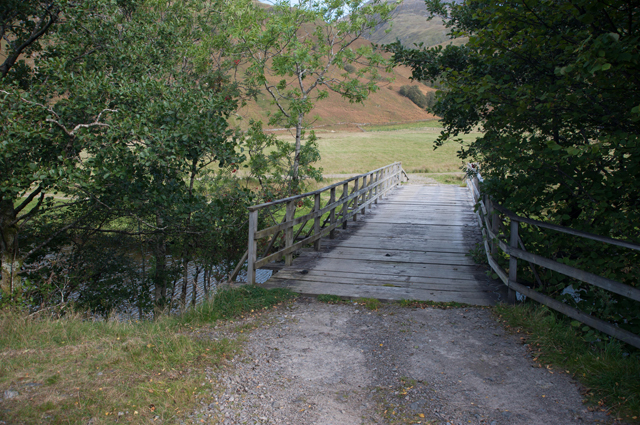 Wooden bridge over the River Arnisdale