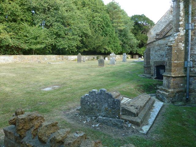 St Andrew, Trent: churchyard (B)