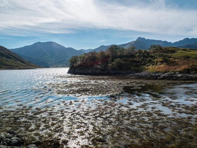Tidal Island on Loch Hourn