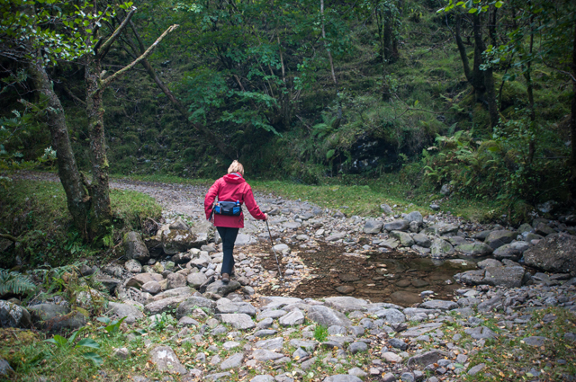 Crossing the Allt an Tairbh