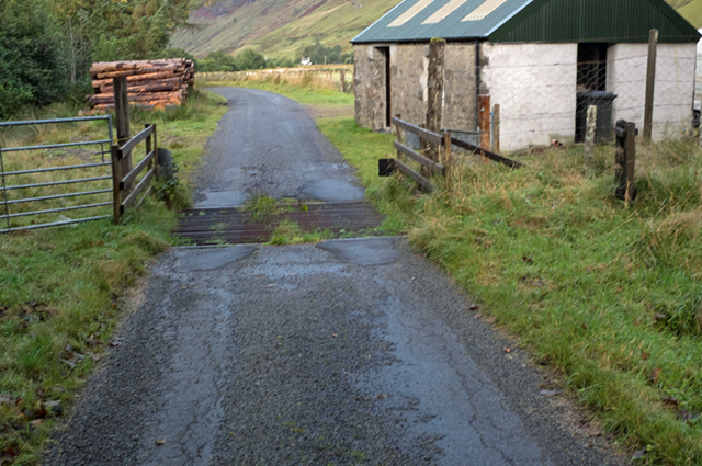 Cattle Grid on road to Moyle