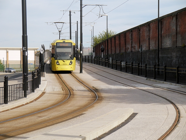 Metrolink Tram on High Level Road