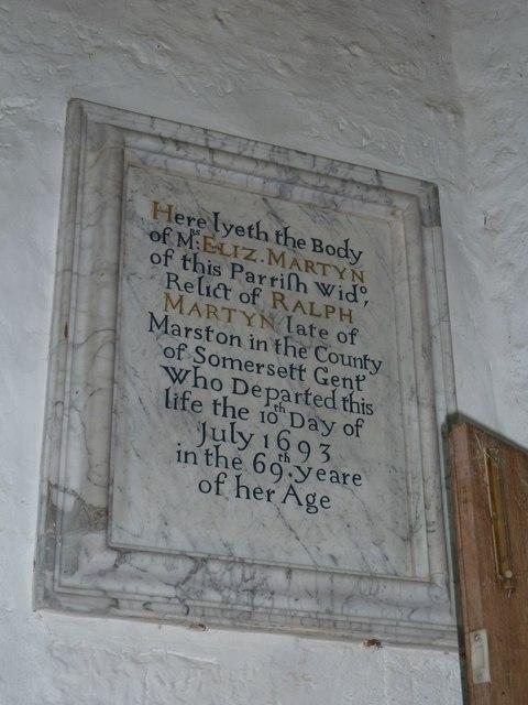 St Andrew, Trent: memorial (6)